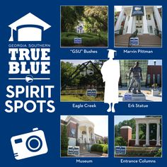 Commemorate your graduation day by taking photos at one of our top six picks to show off your #TrueBlue Spirit and #Alumni Status! #GeorgiaSouthern