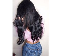 Image about girl in hair by like_and_heart on We Heart It Try On Hairstyles, Different Hairstyles, Curled Hairstyles, Straight Hairstyles, Glam Hair, Long Black Hair, Foto Instagram, Hair Laid, Hair Inspiration
