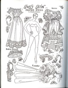 paper dolls to color - Google Search