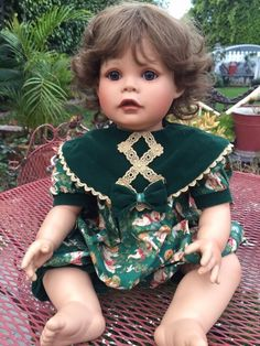Virginia E Turner Vinyl Baby Girl Limited Edition, Numbered 1995, Two Outfit