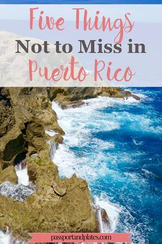 Although I booked my Puerto Rico trip on a whim, I was impressed by how much the country has to offer both on and off the beaten path. These are the five things not to miss in Puerto Rico. | http://passportandplates.om