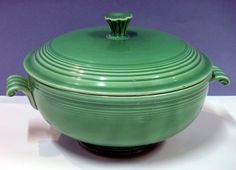 Fiesta Covered Casserole Dish, Original Green