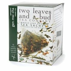 TWO LEAVES & A BUD TEA GEN MAI CHA ORG, 15 BG by Two Leaves and a Bud -- Awesome products selected by Anna Churchill