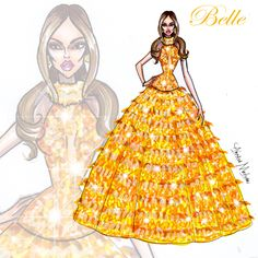 Belle - Disney Haute Couture - by Armand Mehidri Disney Belle, Disney Princess Fashion, Disney Divas, Disney Inspired Fashion, Disney Princess Dresses, Disney Princess Art, Princess Style, Disney Art, Disney Jasmine