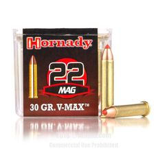 Hornady 22 WMR Ammo - 50 Rounds of 30 Grain V-MAX Ammunition  #22WMR #22WMRAmmo #Hornady #HornadyAmmo #Hornady22WMR #VMAX