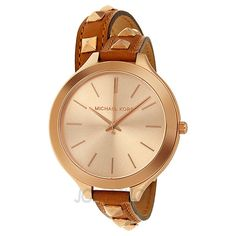 Michael Kors Runway Rose Dial Btown Leather Ladies Watch MK2299