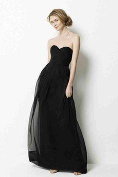 Long Black Bridesmaid Dresses Cheap