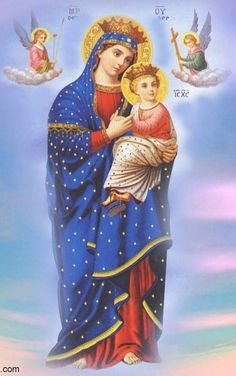Coptic icon of Our Lady of Perpetual Help