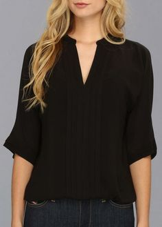 Black V Blouse