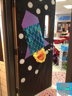 Amazing Home Decoration Ideas Space Classroom, Classroom Board, Science Classroom, Classroom Themes, Bulletin Boards, Class Door, Autumn Crafts, Space Theme, Creative Teaching