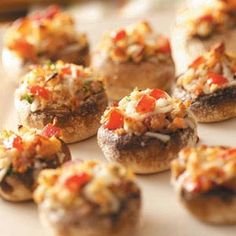Italian Stuffed Mushrooms Recipe from Taste of Home -- shared by Virginia Slater of West Sunbury, Pennsylvania