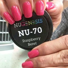 NuGenesis Nails Dip Powder Raspberry Beret NU 70