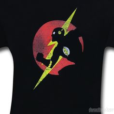 Images of Flash Symbol & Profile T-Shirt