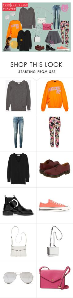 Your Oversized Sweater by triasterina on Polyvore featuring Yves Saint Laurent, Equipment, USA Pro, Maison Margiela, Dr. Martens, Converse, Kendall + Kylie, Marc Jacobs, Bueno and Sunny Rebel