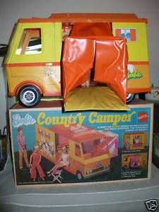 Barbie Camper with a PJ doll. I picked this out as my reward at Child World in Dedham, MA after I had to get stitches in my arm after getting bitten by a dog. Same summer that we went to see The Aristocats for my birthday --- 1972? Must've been - because Pam had just been born (PJ) - and we saw it at the Village Cinema in Hancock Village