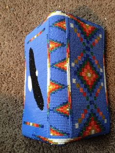 Native American wallet beaded by ?