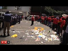 Thousands of waste removal workers took to the streets of Johannesburg to voice and vent their frustrations, leaving Braamfontein in a stench as they protest Waste Removal, South Africa, Sad