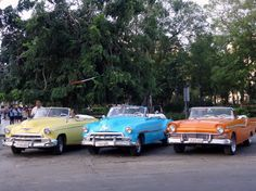 Classic cars in Havana. Photo taken by Brian Kaylor during a trip for the COEBAC's 40th anniversary celebration at Iglesia Bautista Enmanuel (Emmanuel Baptist Church) in Ciego de Ávila, Cuba.