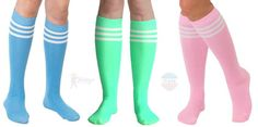 Bright Colored Tube Socks - Over 10 different colors