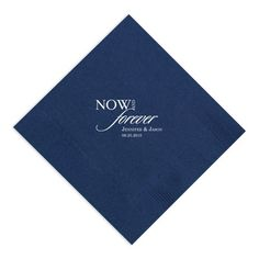 Exclusively Weddings | Now and Forever Napkin
