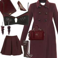 oxblood #fashion / #burgundy