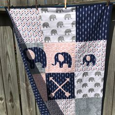 FREE SHIPPING and use coupon code  COUPONS10 at checkout . Visit www.teatimequiltsnmoretreasures.com   #babyblanket #babyshower #boys #flannel blanket #receiving blanket #teatimequiltsnmoretreasures #elephants #arrows