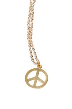Gold-plated Peace necklace. With this stunning necklace, you're sure to choose peace over war any day. Peace Necklace by Green. Accessories - Jewelry - Necklaces Bastille, Paris