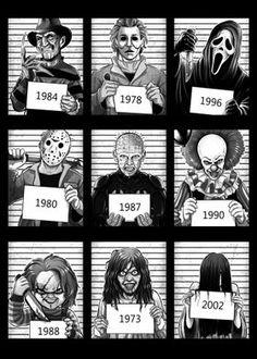 Horror Movie Costumes, Horror Movie Tattoos, Horror Movies Funny, Horror Movie Characters, Classic Horror Movies, Horror Movie Posters, Iconic Movies, Scary Movies, Slasher Movies