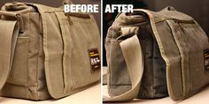 DIY Tutorial on how to waterproof a canvas camera bag.