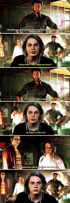 "Quicksilver - X-Men: Days of Future Past ""You, you kleptomaniac, get to break into the Pentagon."""