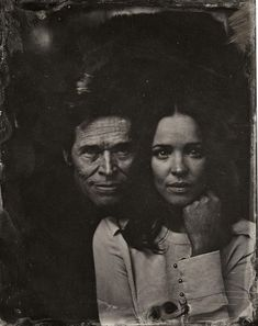 Rachel McAdams and Willem Defoe // pose for a tintype (wet collodion) portrait at The Collective and Gibson Lounge Powered by CEG, during the 2014 Sundance Film Festival in Park City, Utah. (Photo by Victoria Will/Invision/AP) 2014 Sundance tIn type portraits