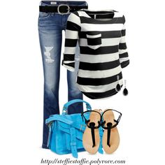 Touch of Turquoise, created by steffiestaffie on Polyvore