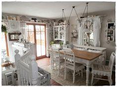 Shabby Landhaus: Vorher-Nachher-Küche.....Esszimmer...