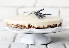 "Lavender + honey raw ""cheese"" cake 