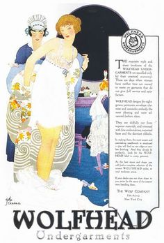 """The Reeses, """"Wolfhead Undergarments"""" ad, 1918"""