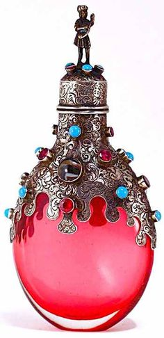 Perfume/Scent Bottle ~ so Gorgeous! Perfume Atomizer, Antique Perfume Bottles, Vintage Bottles, Perfume Vintage, Beautiful Perfume, Bottles And Jars, Glass Bottles, Parfum Mademoiselle, Glas Art