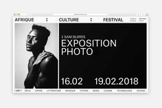 Picture of 8 designed by Content and Forms Studio for the project Afrique Culture Festival. Published on the Visual Journal in date 31 May 2018 Site Web Design, Website Design Layout, Web Layout, App Design, Layout Design, Form Design, Website Designs, Website Ideas, Mobile Design