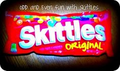 Odd and Even Fun with Skittles - With this activity, children will be able to determine the difference between even and odd numbers and tell whether a number is even or odd and why.  Students could also practice estimating with sums and differences while learning about odd and even.