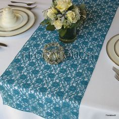 Peacock Lace Table Runner