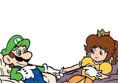 Luigi And Daisy, Mario And Luigi, Mario Bros, Princesa Daisy, Mario Comics, Super Smash Bros Memes, Mario Brothers, Aesthetic Art, Super Mario
