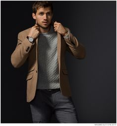 Andrew Cooper Models Limited Edition Styles from Massimo Dutti Fall 2014 5th Avenue Collection