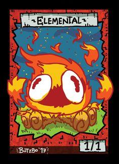 4x Elemental Fire Tokens for MTG (Butzbo)