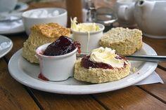Cream tea - say no more!  Very British. Very scrummy.