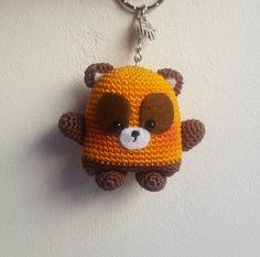 Porte clefs amigurumi Panda Roux en coton  : Porte clés par les-idees-de-jenny