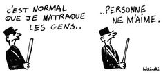 Wolinski - Clubbing people is normal. Nobody loves me. Mai 68, Nobody Loves Me, Charlie Hebdo, Messages, Journal, Coin, My Love, Memes, People