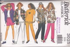Vintage 1993 Butterick Pattern No 3025 Misses Jacket Top Shorts Size XS-M UNCUT  http://stores.ebay.com/The-Spicy-Senior?_rdc=1