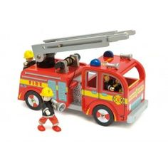 Fire Engine Set - Le Toy Van for sale by Little Shop of Treasures. Other Le Toy Van available now at LSOT. Van For Sale, Puzzle Toys, Fire Engine, Wooden Toys, Kids Toys, Gate, Innovation, Engineering, Trucks