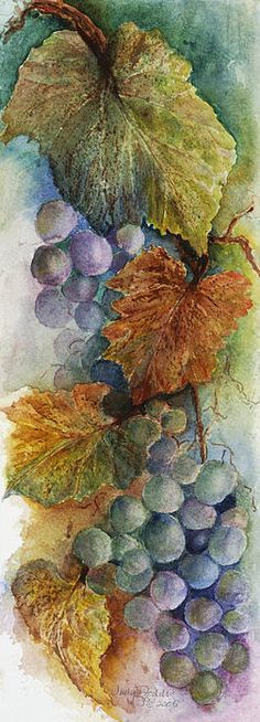 grapes 2 watercolor