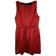Pre-owned Alice + Olivia Red Dress ($155) ❤ liked on Polyvore featuring dresses, red, metallic dress, metallic cocktail dress, alice + olivia, zipper back dress and mesh panel dress