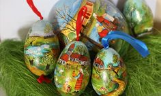 Ręcznie malowane wydmuszki z jajek